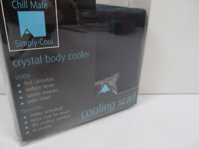Simply Cool Active Neck Scarf - Cooling Chill Mate Neck Wrap NAVY NEW