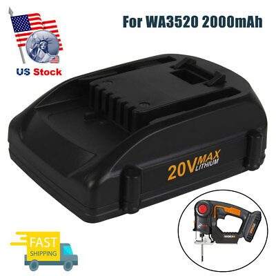 NEW 20V 2.0Ah WA3520 WA3525 Max Lithium Battery For WORX WG151s WG545 W155 WG163