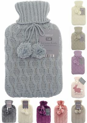 Hot Water Bottles Soft Cover Rubber Hotwater Bottle Many Colours New