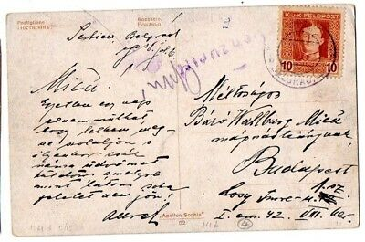Austrian Occ. Serbia:  1916 ppc to Budapest from Belgrade with censor