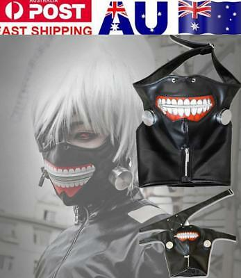 Cosplay Tokyo Ghoul Adjustable Kaneki Ken Zipper Belt Prop Mask Halloween Party