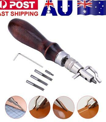 7 in 1 Leather Craft Tool Edge Stitching Groover Creaser Beveller Sewing