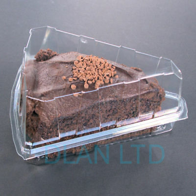 Deep Cake Slice 1/8 Hinged Container (Depth 80mm)