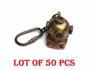 New Brass Divers Helmet Key chain Nautical Maritime Diving Gift LOT 50 PCS