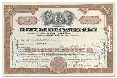 Chicago and North Western Railway Company Stock Certificate