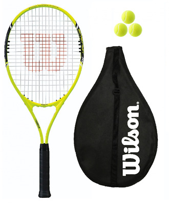 Wilson Energy XL Yellow Tennis Racket + 3 Balls