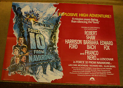 FORCE 10 FROM NAVARONE 1978 UK quad cinema poster Excellent condition