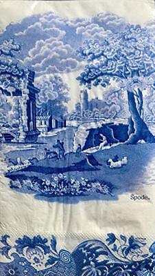 NEW Spode Blue Italian Guest Dinner Hostess Paper Napkins 32 Count