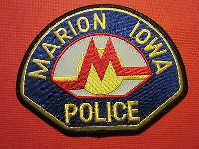 Collectible Iowa Police Patch Marion New