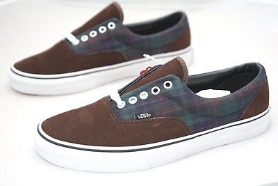 Vans Era MLX Flannel 2 Tone Mens Skate Shoes Trainers Size UK 6.5 Brown (KAA)