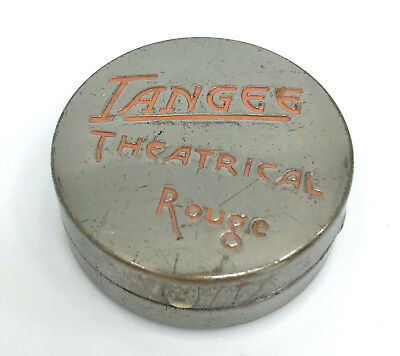 Tangee Theatrical Rouge Pot 1920s Compact George W Luft NY Art Deco Early Case