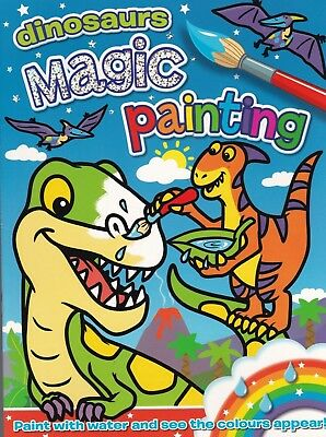 Magic Painting Book: Dinosaurs - New A4 16 Page Paperback Book