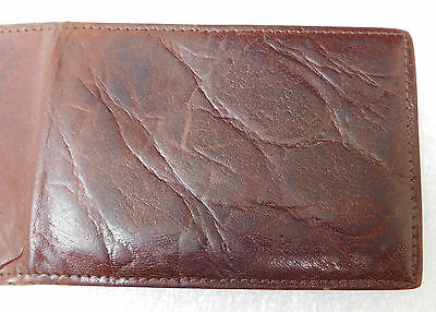 Vintage calf leather wallet ID card holder Made in England Men or ladies c 1960s