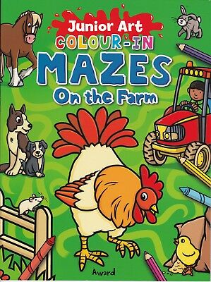 Farm Mazes: Complete And Colour In, New Paperback Book