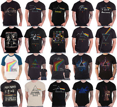 Pink Floyd T Shirt Dark side of the Moon Variations Band Logo new Official Mens