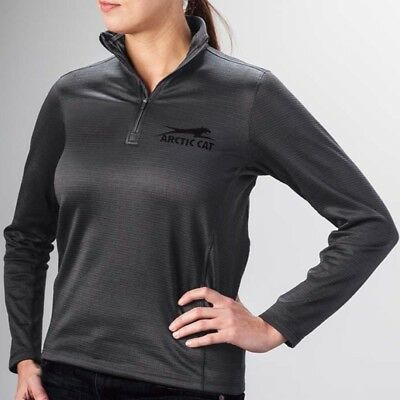 Arctic Cat Women's Aircat Midweight 1/4-Zip Fleece Sweatshirt - Gray - 5283-21_