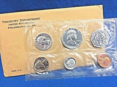 1963 U.S. Silver Proof Five Coin Set *Mint Condition w/COA