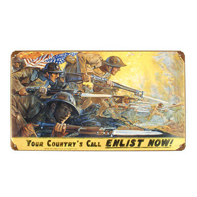 U.S. WWI Vintage Metal Sign: Your Countrys Call