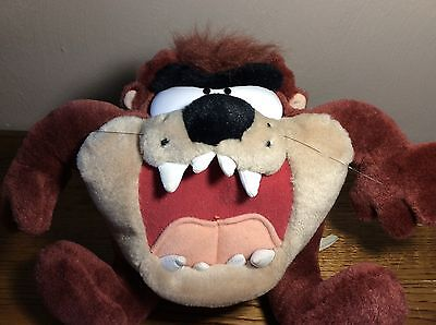 Looney Tunes Taz The Tasmanian Devil Play-By-Play Plush Toy Vibrates W/ Sound