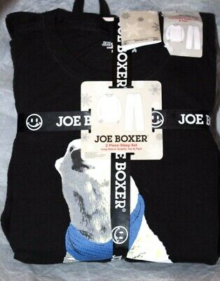 Joe Boxer Big Men's 2-Pc Long Sleeve Graphic Tee & Pant Pajama Sleepwear Set XXL