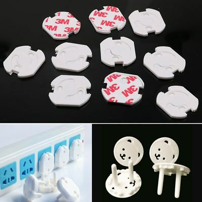 10 X Baby Child Protection Safety Covers Cap Anti Electric EU Wall Plug Socket