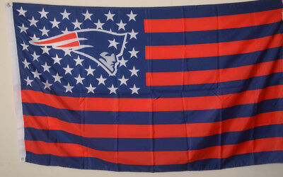 bd7cba4f NEW ENGLAND PATRIOTS USA Stars and stripes Flag Deluxe Banner 3'x5'Feet
