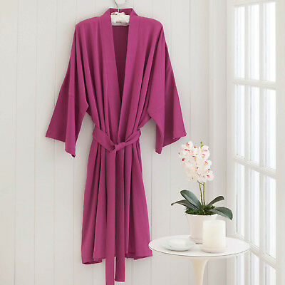 Under The Canopy Kimono Robe 100% Certified Organic Cotton Pink One Size New