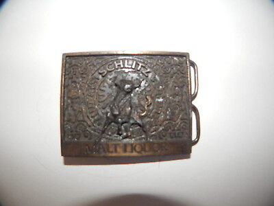 Vintage Belt Buckle Schlitz Malt Liquor Beer Unisex Men's Women's Alcohol Man