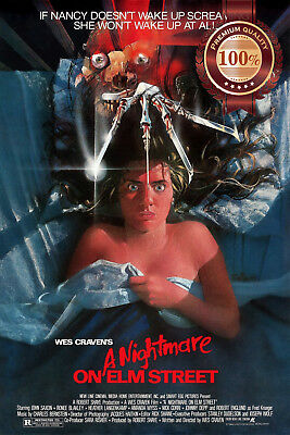 New A Nightmare On Elm Street 1984 Original Wes Movie Film Print Premium Poster