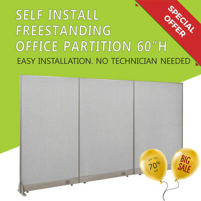 """[Special Sale] GOF 60""""H Freestanding Office Partition, Wall, Room Divider"""