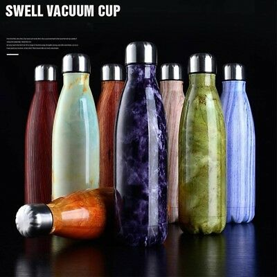 Double Wall Stainless Steel Vacuum Insulated Water Drinks Outdoor Sport Bottle