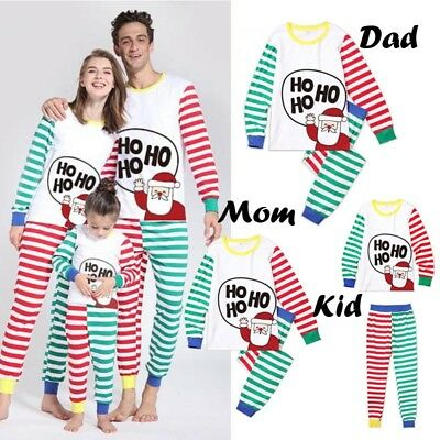 Christmas Family Matching Santa Pajamas Set Adult Kid Girl Sleepwear Nightwear