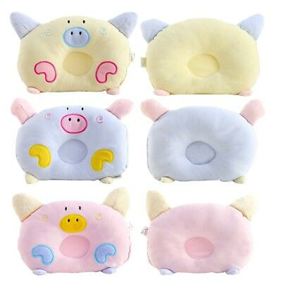US Newborn Baby Infants Comfortable Prevent Flat Head Soft Cotton Cushion Pillow