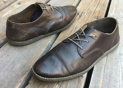 3264e3a0d1bf Men s Timberland Revenia Brown Weathered Leather Oxford Shoes Sz 10.5 Cap  Toe