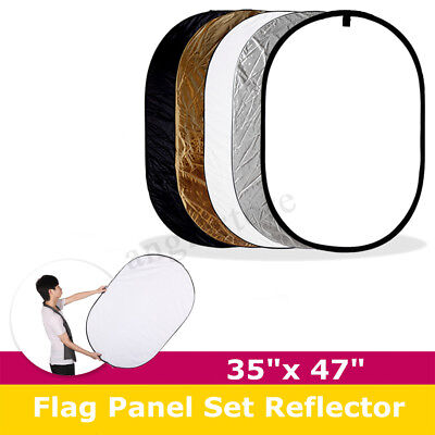 5-in-1 Multi Reflector Collapsible Photo Studio Photography 35x47'' 90cmx120cm