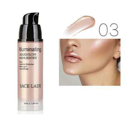 Shimmer Cream Face Illuminator Glow Bronzer Liquid Highlighter Natural Skin Care