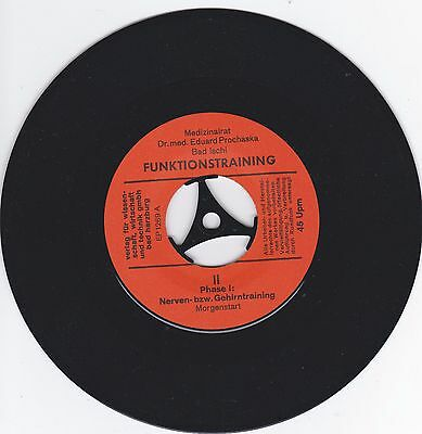 "7"" Single,Funktionstraining Dr.med.Prochaska-Bad Ischl- Rarität!!"