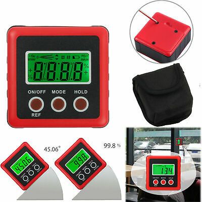 4*90° LCD Digital Protractor Inclinometer Magnetic Angle Finder Gauge Bevel Box