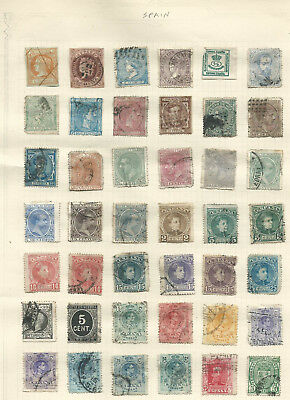 Spain 1860-1937 collection (3 pages) from an old album mint/used