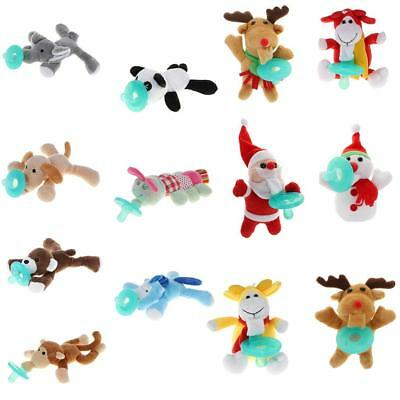 Infant Baby Dummy Pacifier Plush Animal Teething Toy Soother Nipples Holder Gift