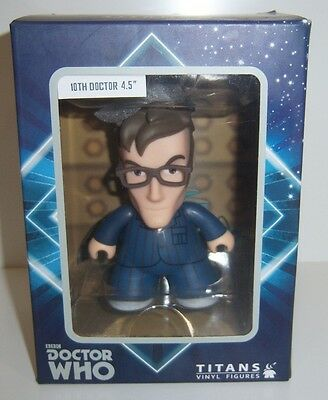 "Doctor Who 10th Doctor 4.5"" Titans Vinyl Figures - New In Package"