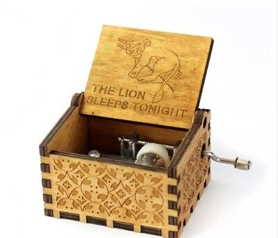 Music Box Wood Engraving Clockwork Tiny Gift Exclusive Harry Potter Sleep Lion
