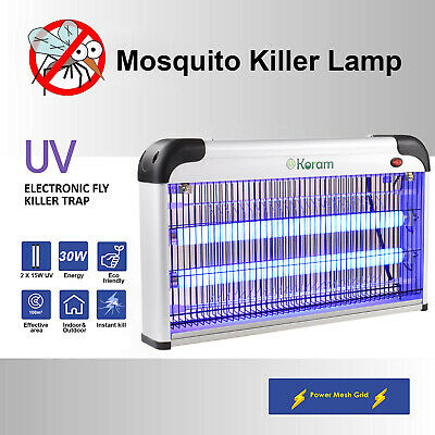 30W UV LED Lamp Electric Insect Flying Pest Mosquito Bug Killer Zapper Indoor