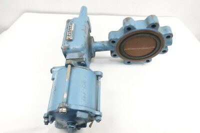 Dezurik 632 Pneumatic Iron Lugged 6in Butterfly Valve