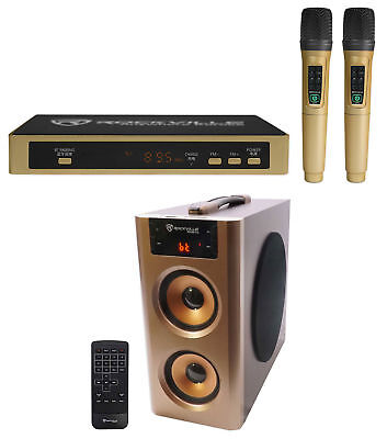 Rockville ANYWHERE KARAOKE Machine System w/Compact Speaker+Bluetooth+(2) Mics