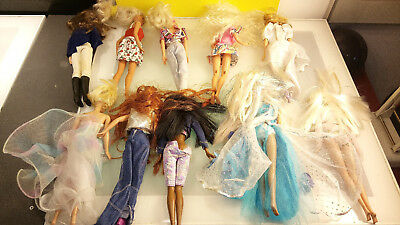 Barbie Doll mixed lot 10 pcs good condition nice clothes