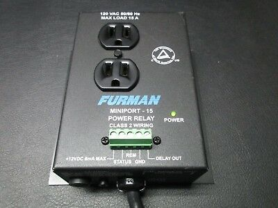 Furman Mp-15 Miniport-15 15 Amp 2 Outlet Power Relay