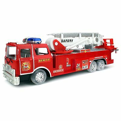 Velocity Toys Bump and Go Battery Operated Kids' Toy Safety Rescue Fire Truck