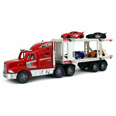 King Power Racing Trailer 1:32 Children's Friction Toy Truck (Colors May Vary)
