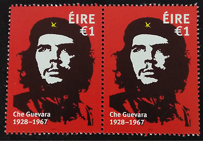 2x Che Guevara Stamps Ireland €1 Mint MNH Unmounted New